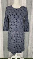 White Stuff Albie Navy 100% Cotton Lines Pocket Tunic Shift Dress Size 10 BNWT