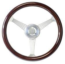 "15"" Dark Mahogany Banjo Steering Wheel with Stainless Steel Spokes for GMC Truck"