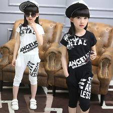 Modern Jazz Dancewear top+Hose Kinder Hip Hop Partei Ballsaal Kostüme Mädchen