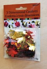 Amscan  3 Dimensional Confetti Autumn Fall Leaves colors Scrapbooking  Crafting