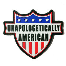 Unapologetically American PVC Morale Patch - Rubber Morale Patch - Hook Backed