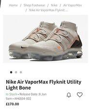 NIKE AIR VAPORMAX FK UTILITY, UK 12 AH6834002 Light Bone Colour Genuine Rare
