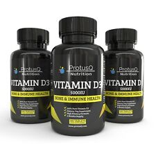 Vitamin D3 5000iu High Strength tablets Suitable for Vegan by ProtusQ Ltd