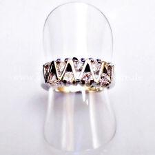 Echte Edelstein-Ringe im Band-Stil aus Sterlingsilber mit Topas für Damen