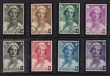 Belgium fine used 1935 Queen Astrid mourning set of stamps