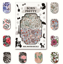 5 Sheets BORN PRETTY Water Decal Nail Art Transfer Sticker Decoration BPY36-40