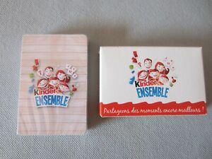 """Jeu de cartes  publicitaire Ferrero  """" Kinder ensemble """""""