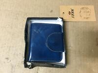 S-ZONE Women's Genuine Leather Tri-Fold Small Wallet Compact Card Organizer w...
