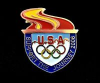 """USA Olympics Support The Journey 2006 Souvenir Hat Lapel Tie Tack Pin Pinback 1"""""""