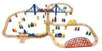 Carousel 100 Piece Wooden Train Set compatible with Brio Thomas new
