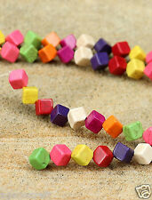34 Colorful Howlite gemstonecube shaped 8mm-8.3mm beads Craft Beading design new