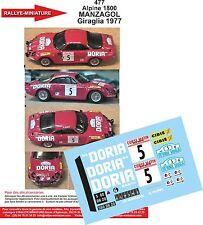 Decals promo 1/43 réf 477 Renault Alpine 1800 MANZAGOL Giraglia 1977