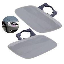 For BMW 3-Series E92 E93 Bumper Headlight (Left & Right) Washer Primed Cap Cover