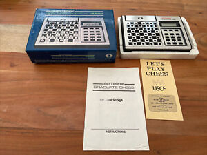 Acetronic Graduate Chess Scisys Electronic Chess Set Complete Working Vintage
