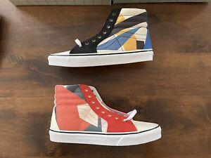 "Vans x MoMA Lyubov Popova ""Untitled"" Sk8-Hi Sneakers 9M/10.5W New In Half Box"