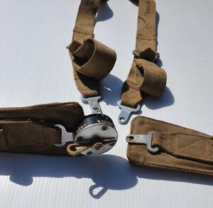 WWII American fighter seat belt harness.