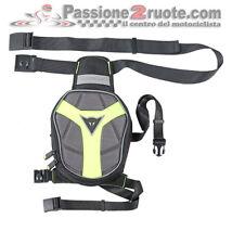 Borsello Gamba Dainese D-Exchange Leg Bag Small Nero Antracite Giallo-Fluo Moto