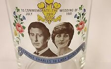 Prince Charles & Princess Diana Wedding 1981 Glass Commemorative collectible NEW