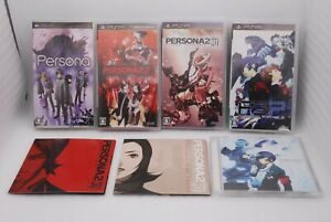 PSP Persona , 2 Tsumi , 2 Batsu & 3 Portable 4Games w/ Soundtrack CD Japan ATLUS