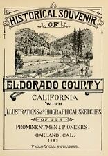 1883 EL DORADO County California CA, History and Genealogy Ancestry DVD V95