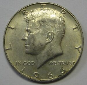 Circulated 1966 John F Kennedy 40% Silver Half Dollar Priced Right Shipped FREE