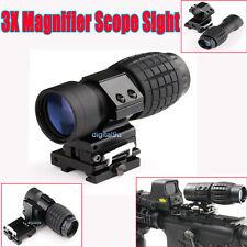 3X Magnifier Scope Sight avec Flip to Side 20 mm Rail Mount Scopes Nouveau F vue