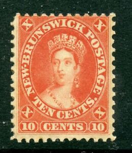 Weeda New Brunswick 9 Fine MNH 10c vermilion 1860 Cents issue CV $70