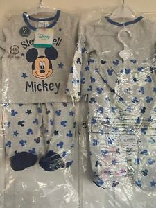 2 PIECE MICKEY MOUSE PYJAMA SET, 6-9 MONTHS. BNWT. RRP £13.99. DISNEY