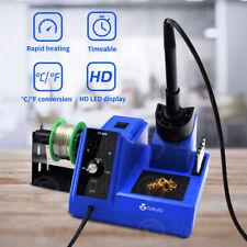 80w 110v Smd Rework Soldering Station Iron Kit Adjustable Digital Led Display Us