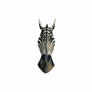 My Family House Zebra Mask - Albesia Wood - Hand Carved Wall Hanging