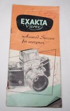 Ihagee Exakta Varex-folleto de ventas de usuario de Cámara Vintage