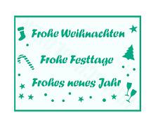 Schablone Schriftzüge ● Frohe Weihnachten ● Frohe Festtage ● Frohes neues Jahr