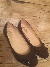 Butter Womens Brown Suede Low Kitten Heel Shoes Made in Italy Size 7