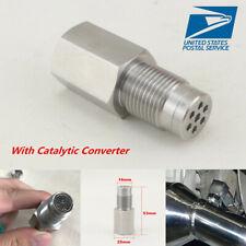 Straight O2 Sensor Spacer Car Engine Light CEL Check Catalytic Converter Kit-USA