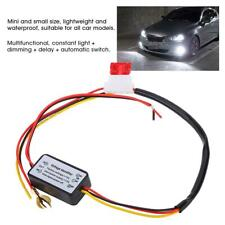 Car LED Daytime Running Light Relay Harness DRL Control ON OFF Auto Dimmer SS