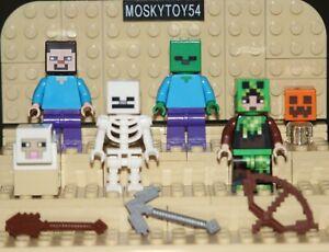 lego Minecraft minifig figurine animal accessoire (choose model)