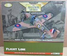 Hawker Hurricane Mk1 P2923 Albert Lewis Castle Camps + 3 Figurines Die-Cast 1:32