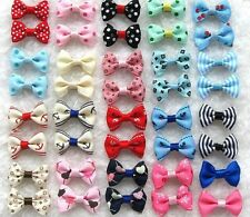 21pcs Hot Sell!  Pet dog puppy Hair Mix Bow Clip Barrette  Dog Hair Clip Puppy