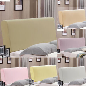 Luxury Silk Stretch Bed Headboard Slipcover Protector Cover 190-220cm Width
