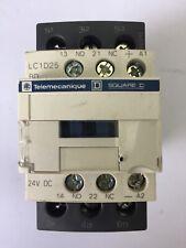 TELEMECANIQUE LC1D25BD CONTACTOR 600VAC 20HP 40A COIL 24VDC LAD4TBDL 5-24V