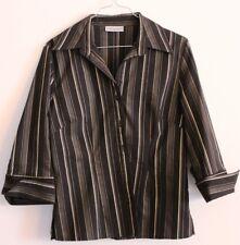 Elegante schwarze Bluse mit goldenen Streifen von Clockhouse, Gr. 42,  ungetragen 2d031ea877