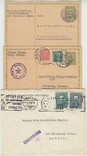 CZECHOSLOVAKIA 1929/38 cards/cover 1) censored cover with pictorial machine cd