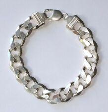 "! ITALY Men's Solid 925 Sterling Silver Cuban Link Bracelet  8.5""   56.5 grams"
