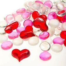 Darice Floral Glass Gems: Hearts, 12 ounces