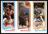 1980-81 TOPPS MINI BOBBY WILKERSON 80 MIKE MITCHELL 51 CALVIN MURPHY 108