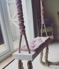 Lovely Retro Wooden Swing Indoor Outdoor Photoshoot Adults Kids Christmas gift