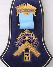 Antique 18K Golden Masonic Freemasonry Medal Thornton Heath Lodge London 1932
