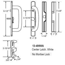 Sliding Glass Patio Door Handle Set, Mortise Type Center latch White
