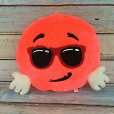 "Emoji Pillow Smiley Face with Sunglasses Stuffed Plush Soft Toy 14"" Neon Pink"
