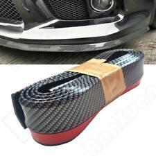 """100"""" Carbon Fiber Front Bumper Lip Splitter Chin Body Spoiler Skirt Kit Trim US"""